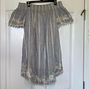 Off-The-Shoulder Jean Dress